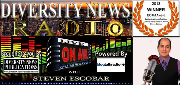 Diversity News Radio on AIR with Steven Escobar 2014 Logo final