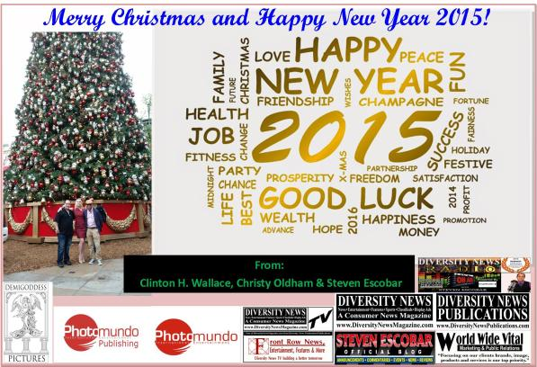 Merry Christmas and Happy New Year 2015 from Clinton H. Wallace, Christy Oldham and Steven Escobar